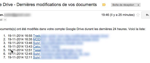 Recevoir Une Notification Quotidienne Des Modifications De Vos