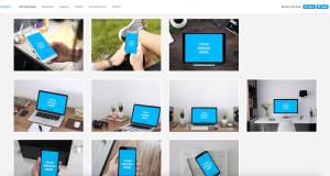 Page d'accueil de smartmockups