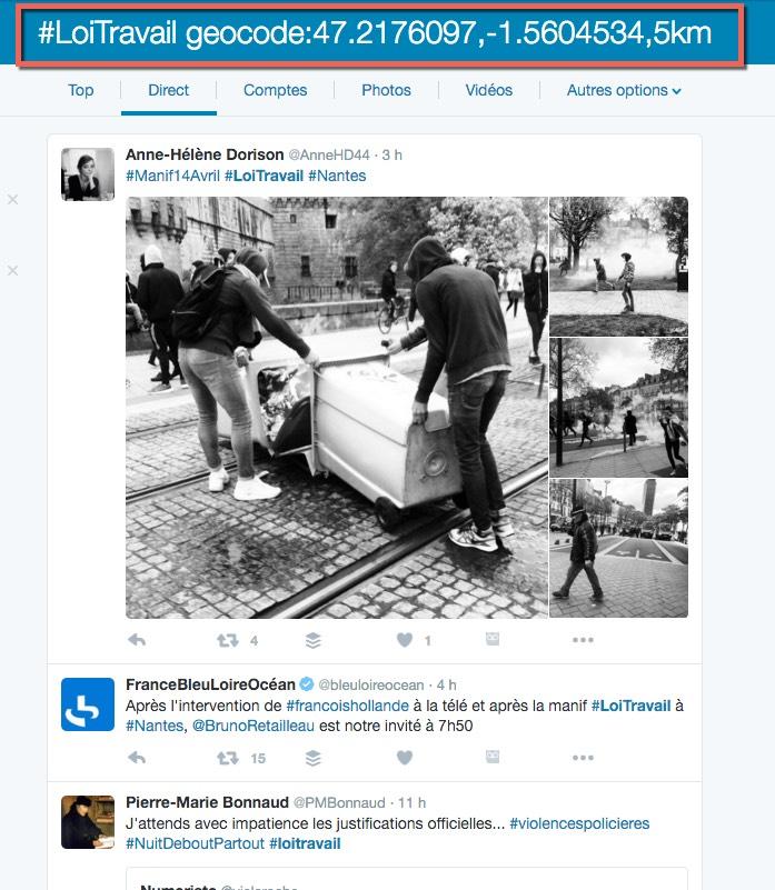 Astuce pour rechercher des tweets géolocalisés sur un sujet