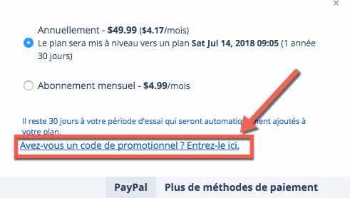 Utiliser un code promo pour obtenir une réduction d'Inoreader