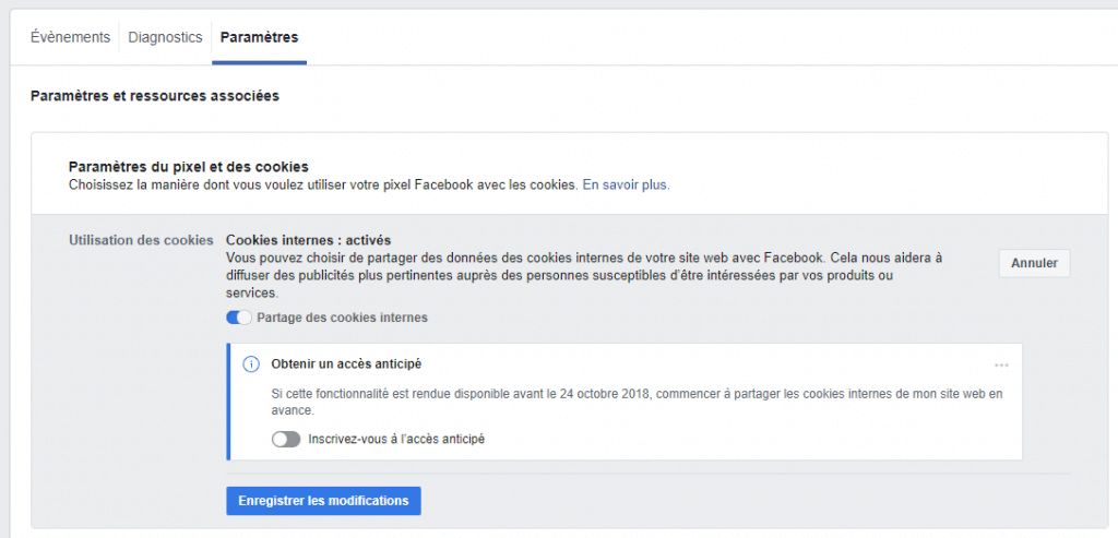 Pixel de suivi Business Manager (Facebook)