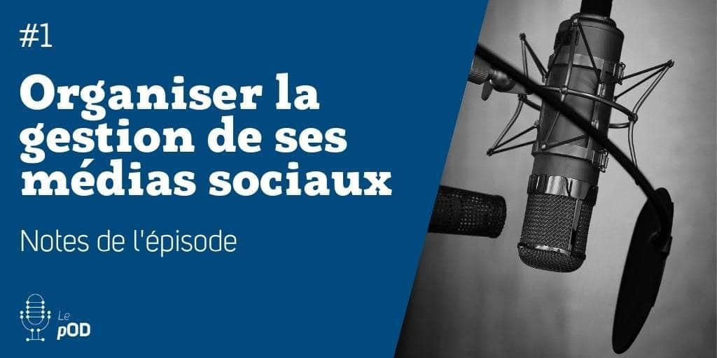 Vignette de l'épisode 1 du pOD, le podcast qui décortique qui décortique les problématiques des médias sociaux avec une dose de stratégie, proposé par l'agence Ouest Digital