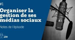 Vignette de l'épisode 1 du pOD, le podcast qui décortique les problématiques des médias sociaux avec une dose de stratégie, proposé par l'agence Ouest Digital