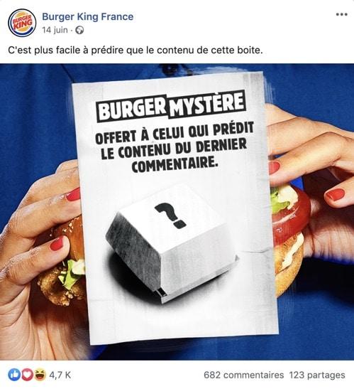 "Exemple d'un jeu concours Facebook de type ""pronostic"""