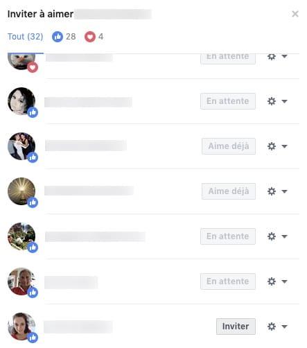 Exemple pour inviter les personnes ayant likées une publication Facebook à devenir fan de la page