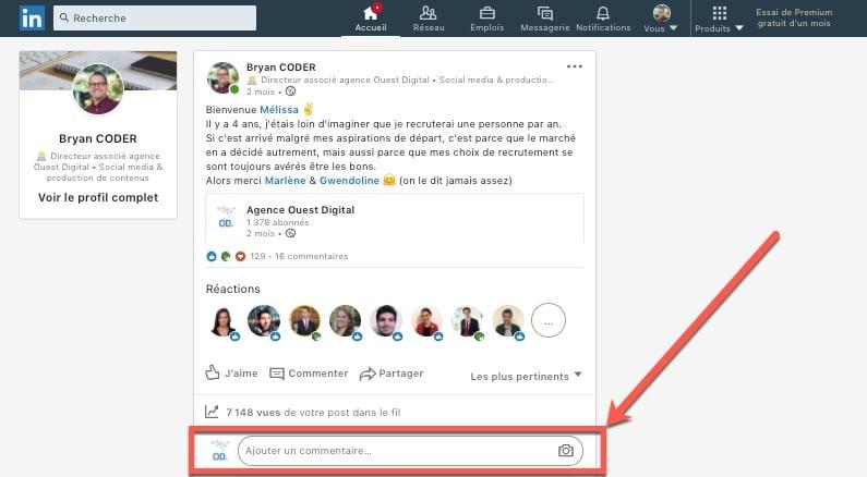 Comment interagir avec un post en tant que page Linkedin ? (liker, commenter, partager)