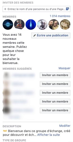 Inviter les fans d'une page Facebook dans un groupe Facebook