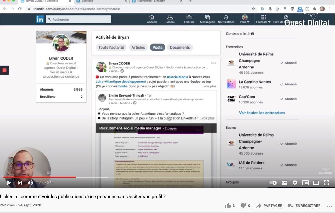 Exemple d'une marque qui propose des tutoriels sur les réseaux sociaux (Youtube)