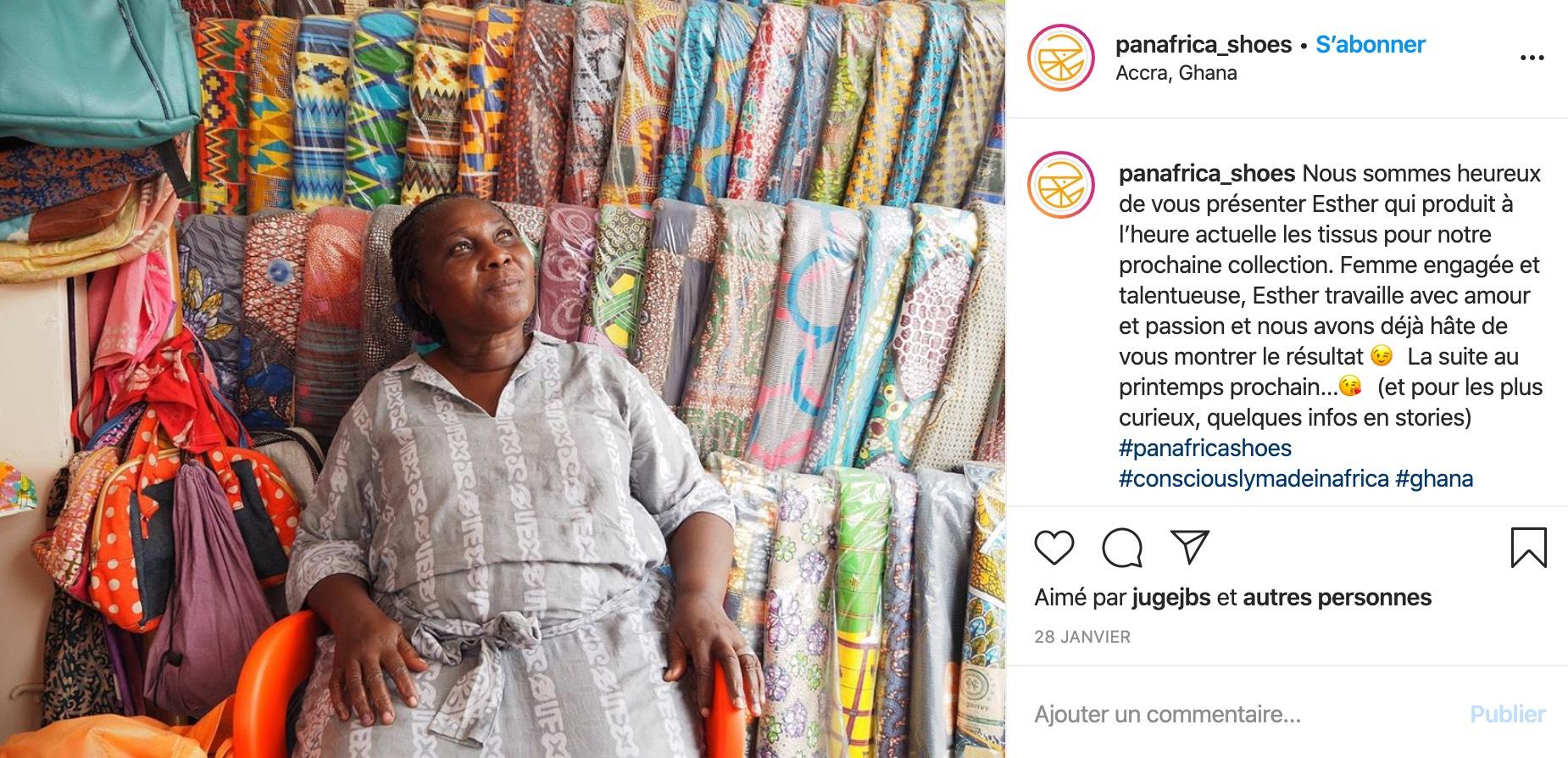 Exemple d'une marque qui valorise ses partenaires sur les réseaux sociaux (Panafrica)