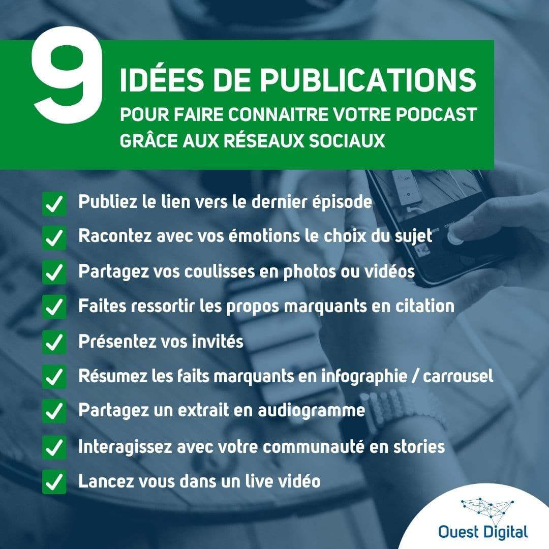 9 idées de publications pour faire connaitre votre podcast grâce aux réseaux sociaux